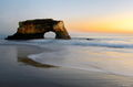 arch, beach, ocean, portrait, california,