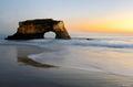 arch, beach, ocean, portrait, california,