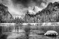 yosemite, black, white, ron, ronald, saunders, snow, winter,valley, view,landscape, fine art, keeble, shuchat,exhibition
