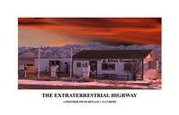 poster, nevada, rachel, UFO,  Extraterrestrial, Highway, landscape
