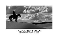 navajo, horse, horseman, dunes, sand, arizona chinli, clouds. B&W, poster, landscape