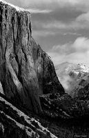 yosemite, el capitan, clouds, B&W, landscape, HDR