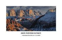poster, zion, color, landscape