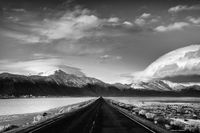 desert, nevada, burning man, gerlach, snow, mountains, ronald, saunders, best landscape, black and white,