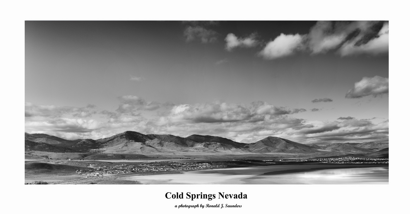 ron, saunders, ronald, ronald j saunders, landscape, photography, nevada, california, image, black, white, exhibition, cold springs, granit hills, Nevada, desert, photography, photo