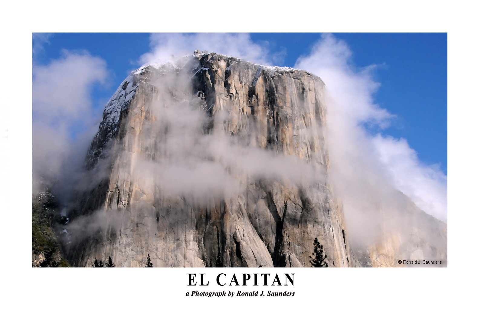 yosemite, clouds, el capitan, poster, photo