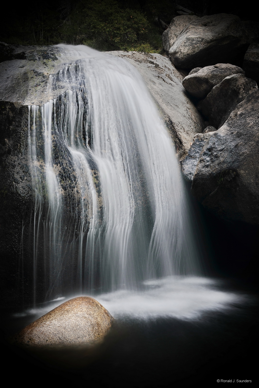 ronald, saunders, digital, photography, image, ronald, falls, davis, creek, yosemite, water, sream, creek, photo