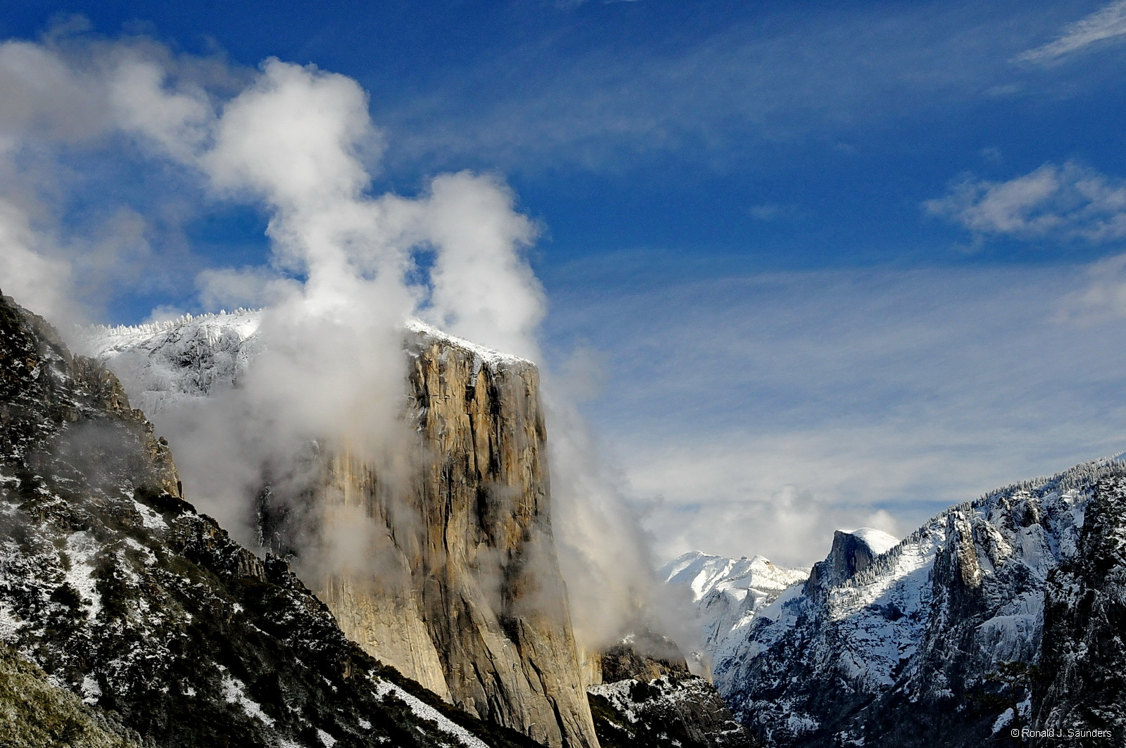 yosemite, el capitan, clouds, valley, color, tunnel, view, photo