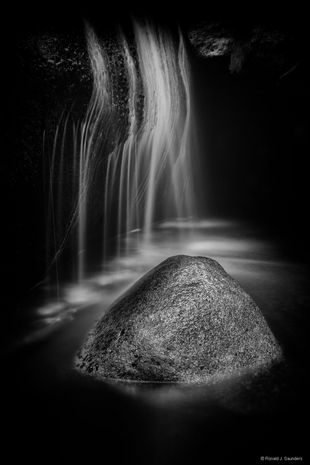 ronald, saunders, yosemite museum CPA, sunset center, carmel, national park, black, white, cascade, creek, falls, landsc, photo