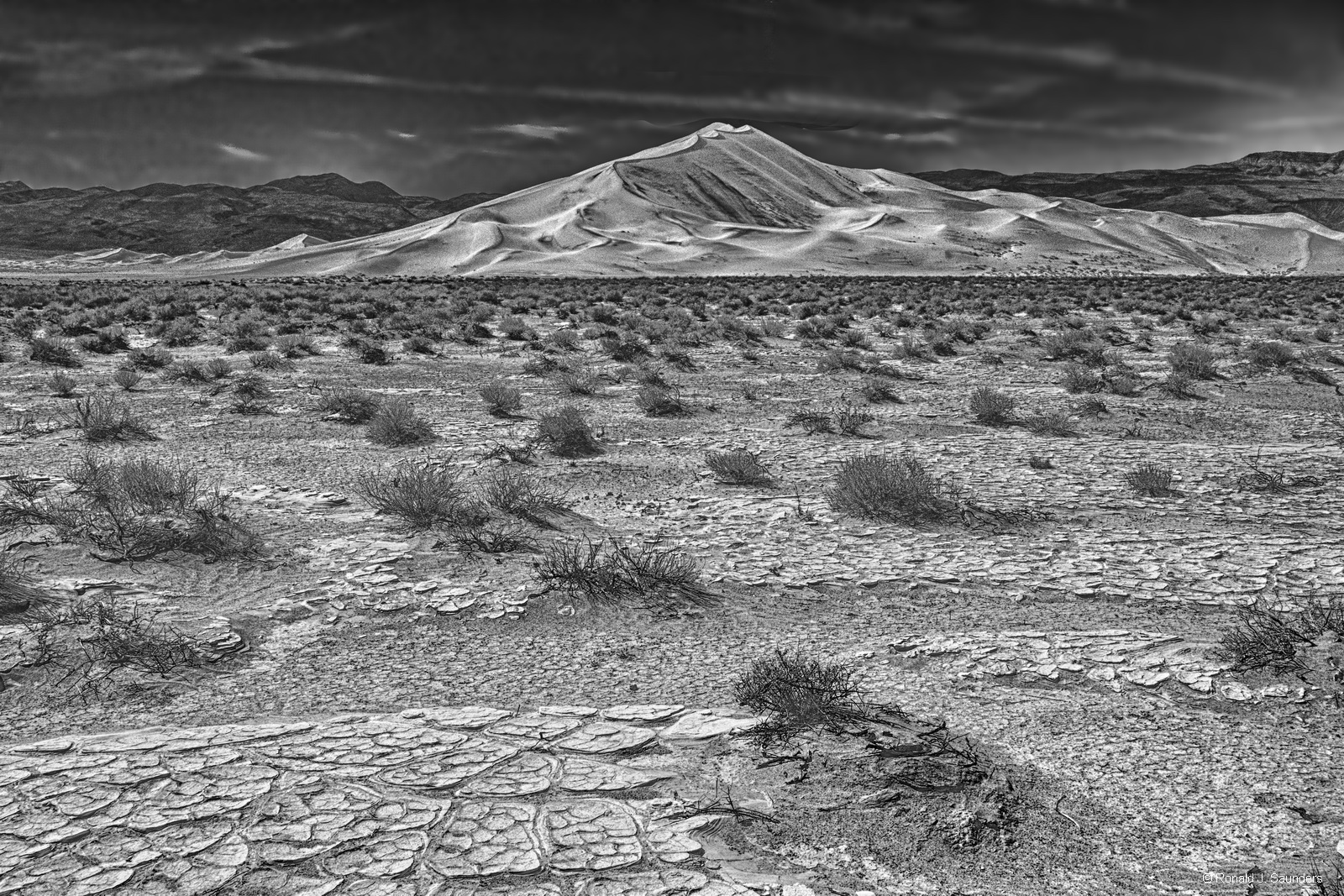 Death Valley, dunes, sand, meringue, california, black,ronal, saunders, ronald j saunders, ron, landscape, desert, nevada, photo