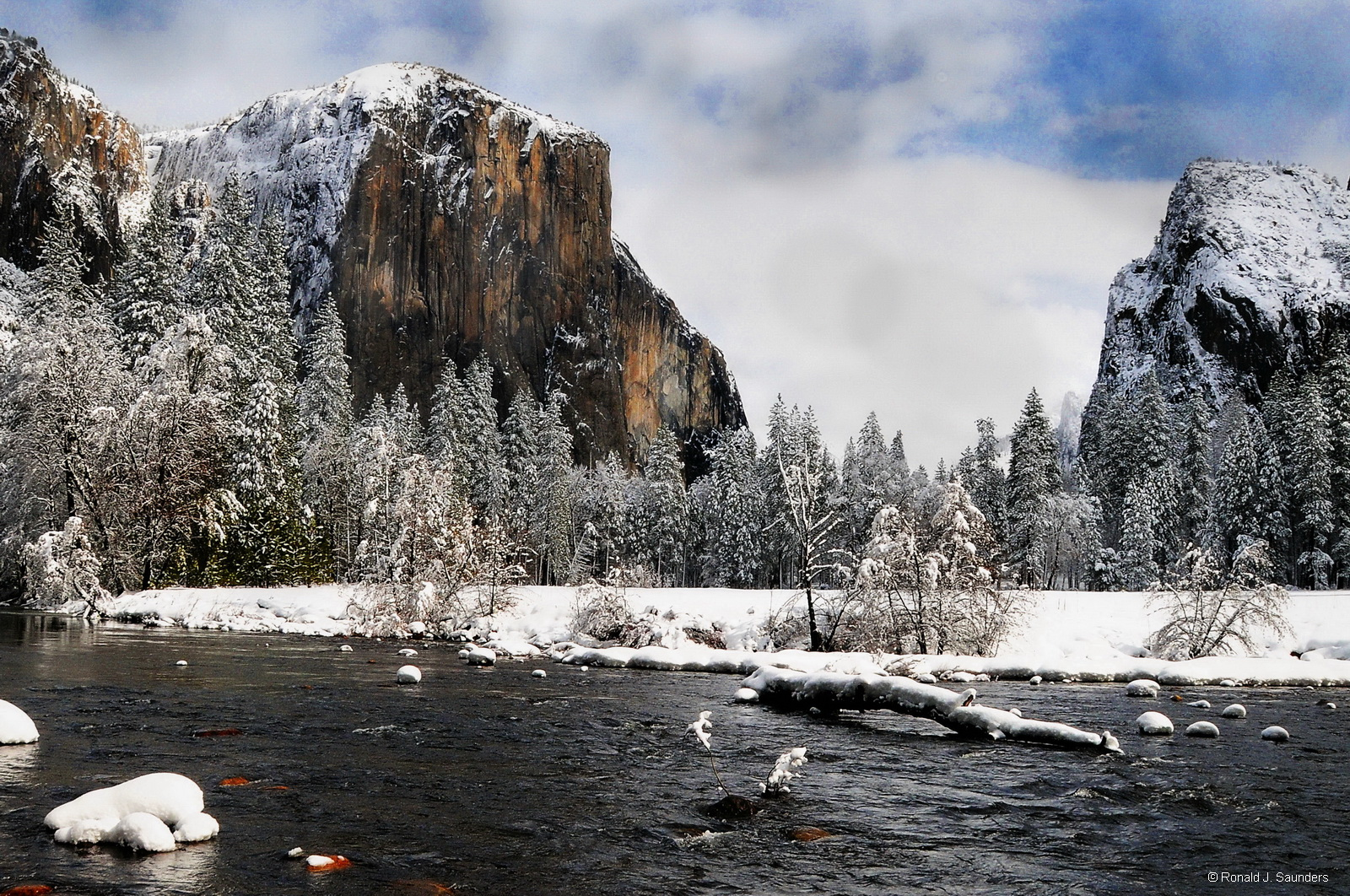 yosemite, winter, snow, merced, landscape, photo