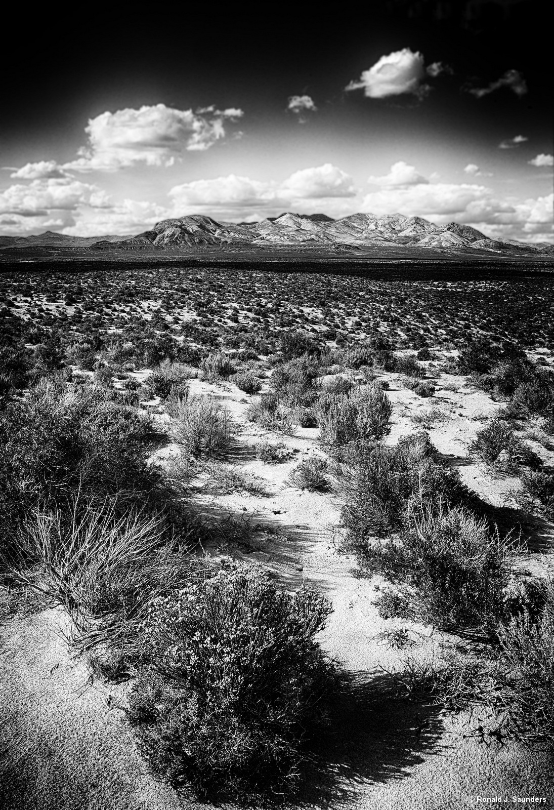 Ron, Ronald, Saunders, photography, black, white, desert, Black Rock, Nevada, Landscape, mountains, exhibition, America, Art, Federation, artist, image, high rock,, photo