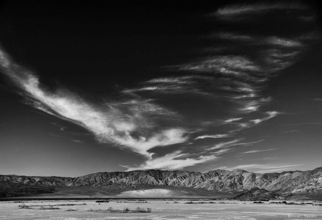 sand, dunes, panamint, death valley, national park, Ronald, Saunders,  landscape, black, white, clouds, desert,
